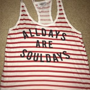 Like New Soulcycle Striped Tank Sz L